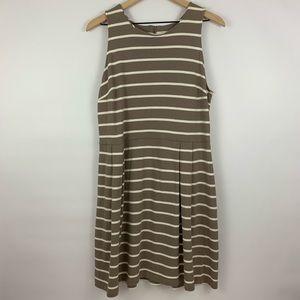 Loft Sleeveless Striped Dress